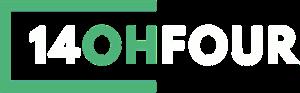 14OhFour logo white cropped